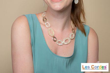 Korte halsketting met grote schakels