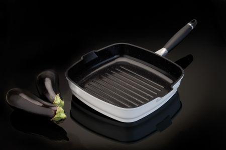 Aluminium grillpan 24cm – wit