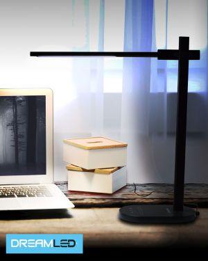 Led-bureaulamp zwart aluminium