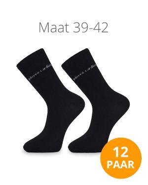 12 paar herensokken zwart 39-42