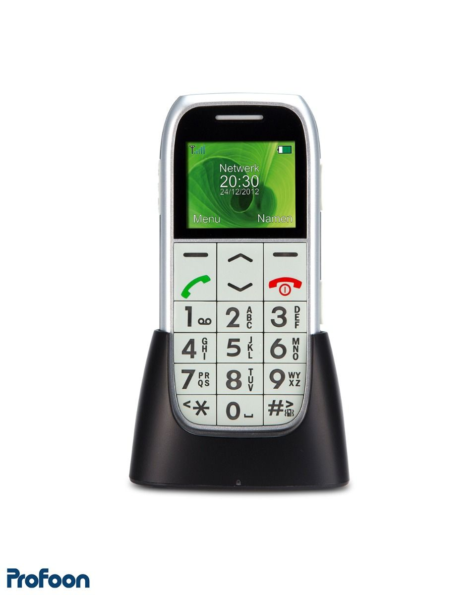 Mobiele telefoon voor senioren met SOS-noodknop
