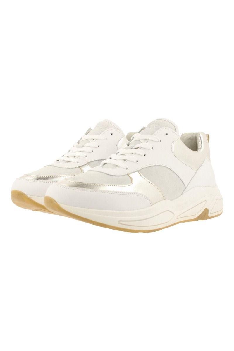 Sneaker dames wit leder